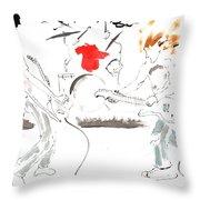 Minimal Grunge Is Grunge Minimal Throw Pillow