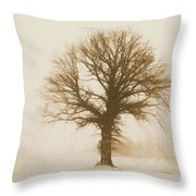 Minimal Winter Tree Throw Pillow