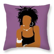 Minimalist Lauryn Hill Throw Pillow