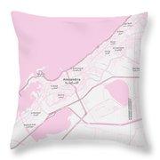 Minimalist Modern Map Of Alexandria, Egypt 1 Throw Pillow