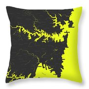 Minimalist Modern Map Of Sydney, Australia 8 Throw Pillow by Celestial Images