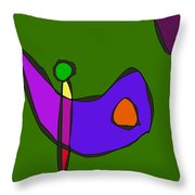 Minimalistic Expressionism Throw Pillow