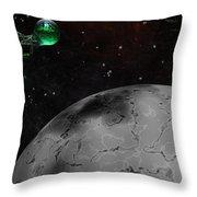 Mining Operation Deep Space Throw Pillow