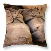 Mining Shoes  Langban Sweden Throw Pillow