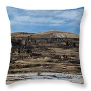 Mining Town Panorama Throw Pillow