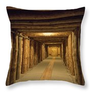 Mining Tunnel Throw Pillow