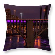 Minneapolis In Purple 4 - Wide Crop Throw Pillow