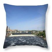 Minneapolis - Saint Anthony Falls Throw Pillow