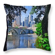 Minneapolis Through The Trees Throw Pillow