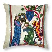 Minnesinger, 14th Century Throw Pillow by Granger