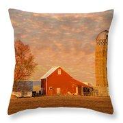 Minnesota Farm At Sunset Throw Pillow