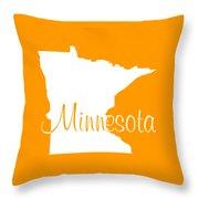 Minnesota In White Throw Pillow