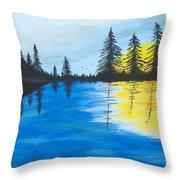 Minnesota Lakes Throw Pillow
