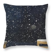 Minnesota Snow Throw Pillow