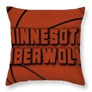 Minnesota Timberwolves Leather Art Throw Pillow