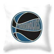 Minnesota Timberwolves Retro Shirt Throw Pillow