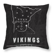 Minnesota Vikings Art - Nfl Football Wall Print Throw Pillow by Damon Gray