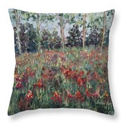 Minnesota Wildflowers Throw Pillow