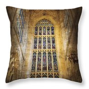 Minster Window Throw Pillow