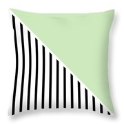 Mint And Black Geometric Throw Pillow