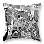 Mint Julep In Grayscale Throw Pillow