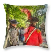 Minuteman And Redcoat Concord Ma Pencil Throw Pillow