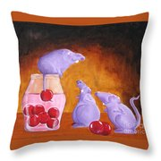 Mioummmmmmmmmm Cherriesssssssssss Throw Pillow