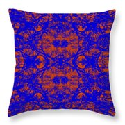 Mirage In Blue - Abstract Throw Pillow