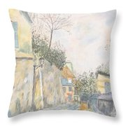 Mirage Of Utrillo Throw Pillow