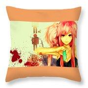 Mirai Nikki Throw Pillow