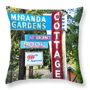 Miranda Gardens Throw Pillow