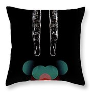 Mirror Icicles Red And Green Bokah Throw Pillow
