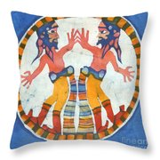 Mirror Image Pirates Throw Pillow