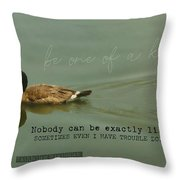Mirror Image Quote Throw Pillow