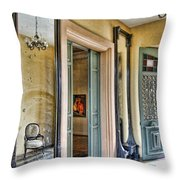 mirror in the palace of the Iturriza Throw Pillow