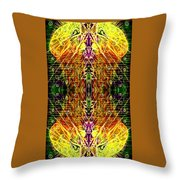 Mirrored Inferno Throw Pillow