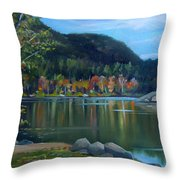 Mirror Lake In Woodstock New Hampshire Throw Pillow