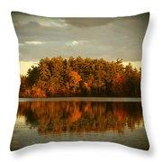 Mirror Lake Image Of Fall Throw Pillow