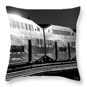Mirror Of The Winter Sun Bw Throw Pillow