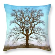 Mirror Tree Throw Pillow