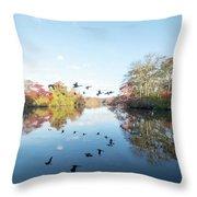 Mirrored Formation Throw Pillow