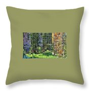 Mirrored Landscape Throw Pillow