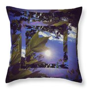Mirrored Leaf Throw Pillow