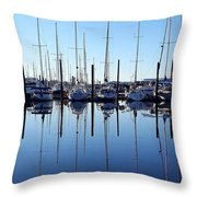 Mirrored Masts  Throw Pillow