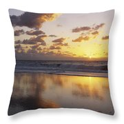 Mirrored Mexico Sunset Throw Pillow