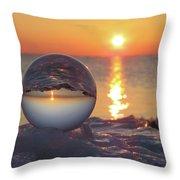 Mirrored Sunrise Throw Pillow