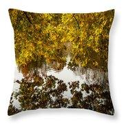 Mirrored Tree Throw Pillow