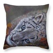 Mirucha In Fall Throw Pillow