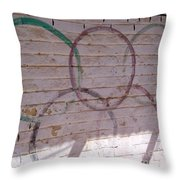 Miscolored Olympic Rings Throw Pillow