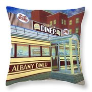 Miss Albany Diner Throw Pillow